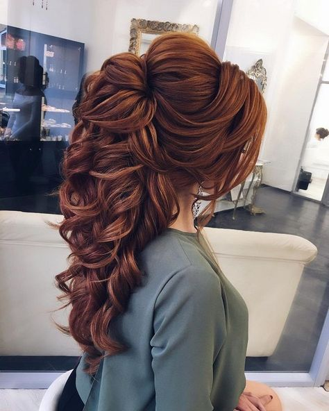 Romantic half up half down hairstyle ideas