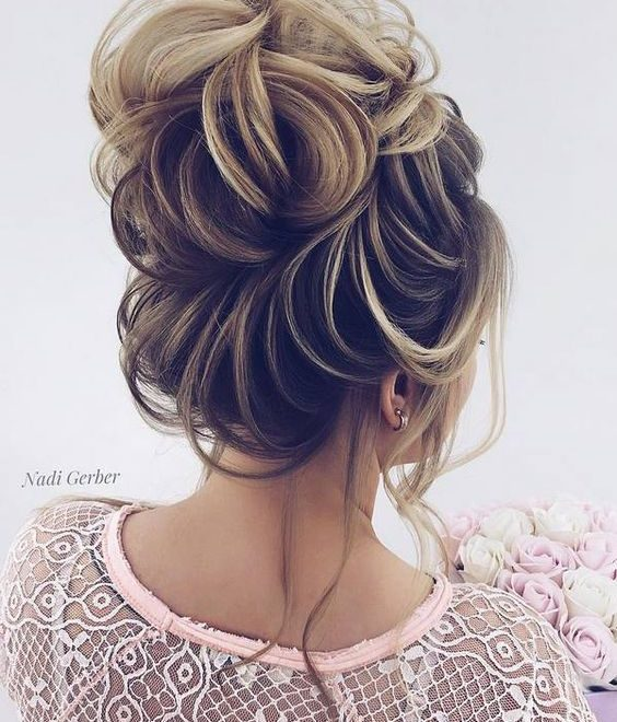 Top High Bun Wedding Updo Hairstyles