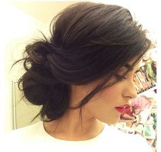 messy side bun hairstyle