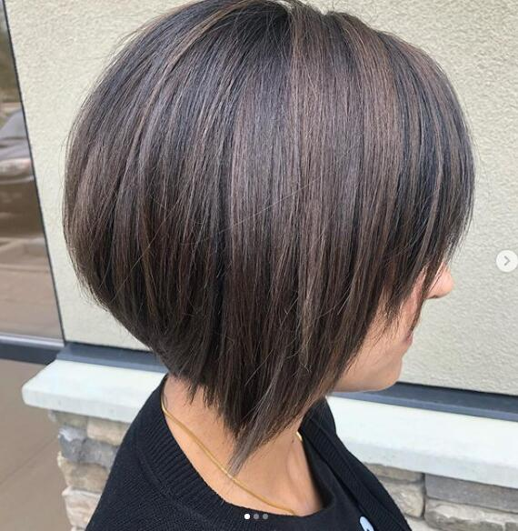 asymmetric bob with a disconnected back