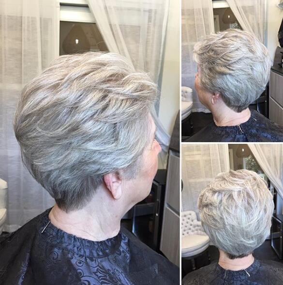 Feathered pixie cut