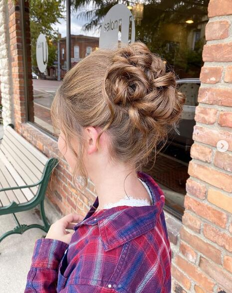 Twisted messy updo