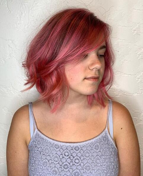 Poppin Pink Textured Bob