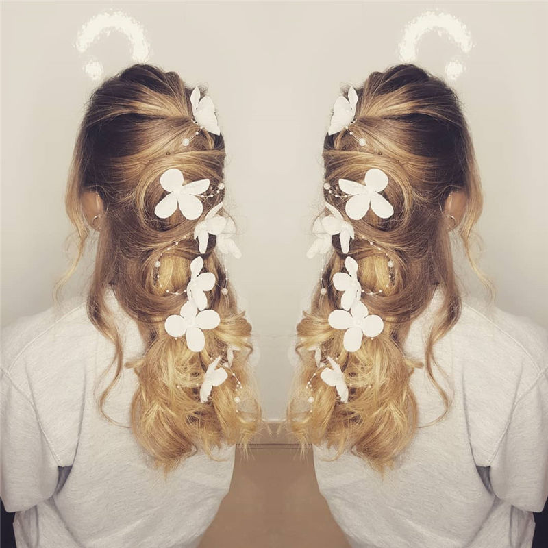 Lovely Wedding Hairstyles You'll Love for 2020-29