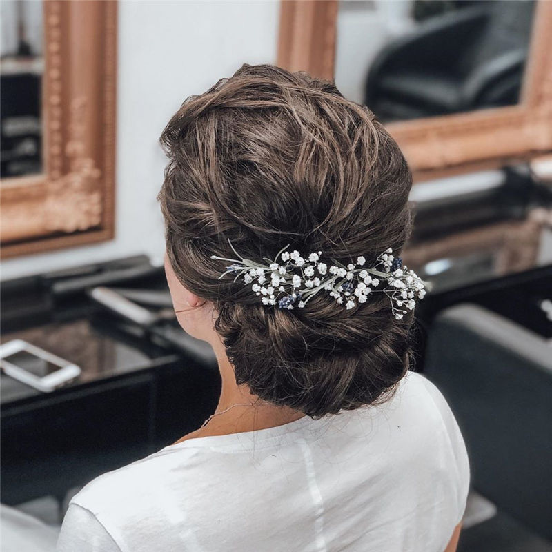 Lovely Wedding Hairstyles You'll Love for 2020-35