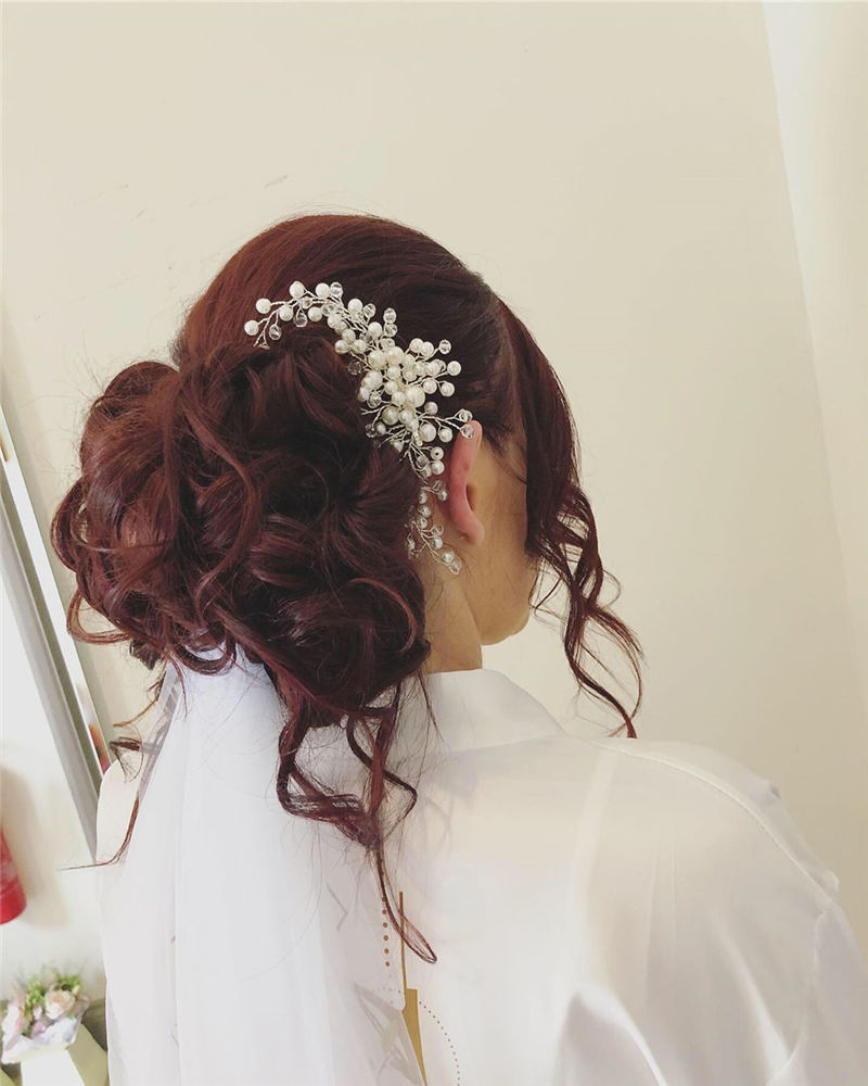 Lovely Wedding Hairstyles You'll Love for 2020-36