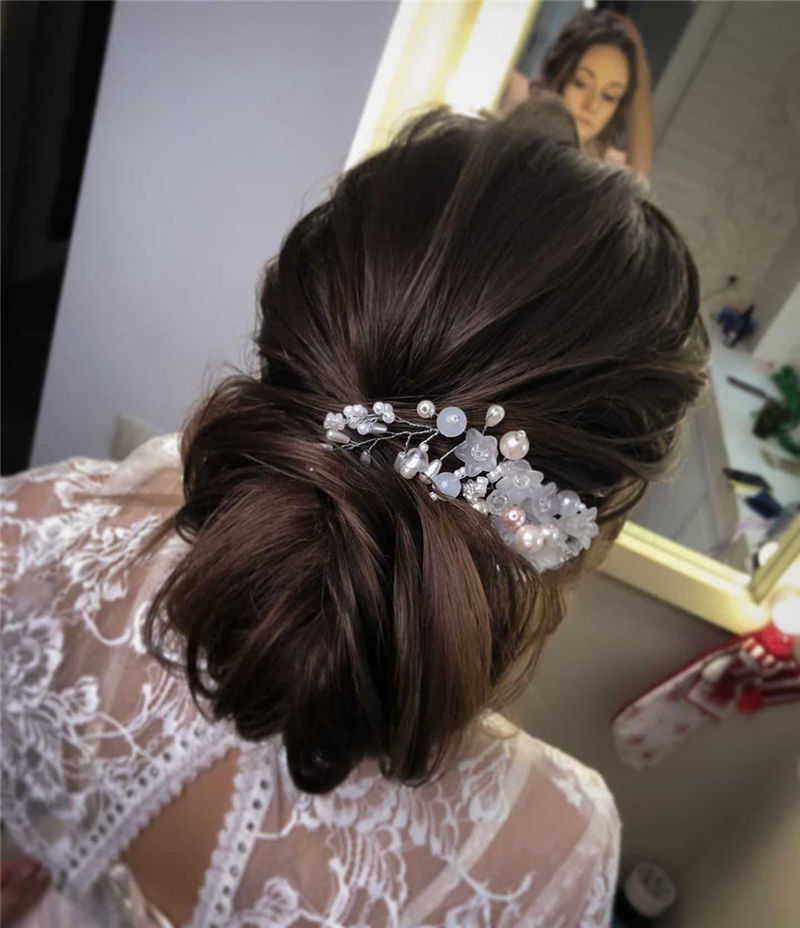 Lovely Wedding Hairstyles You'll Love for 2020-51