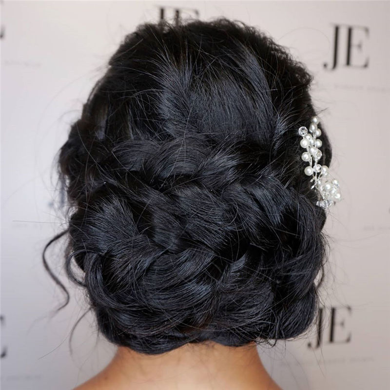 Popular Updo Braided Hairstyles to Make You Look Cuter-51