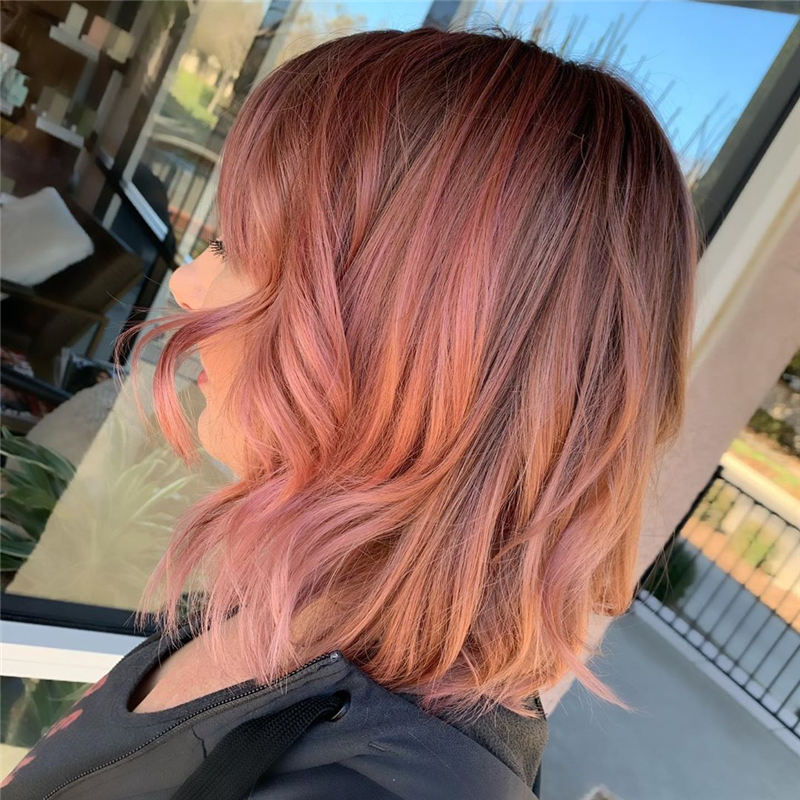 Best Rose Gold Hair Ideas That Will Trending in 2020 01