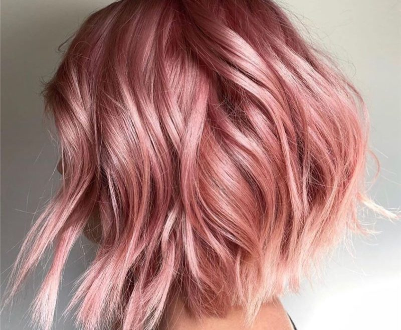 Best Rose Gold Hair Ideas That Will Trending in 2020 27