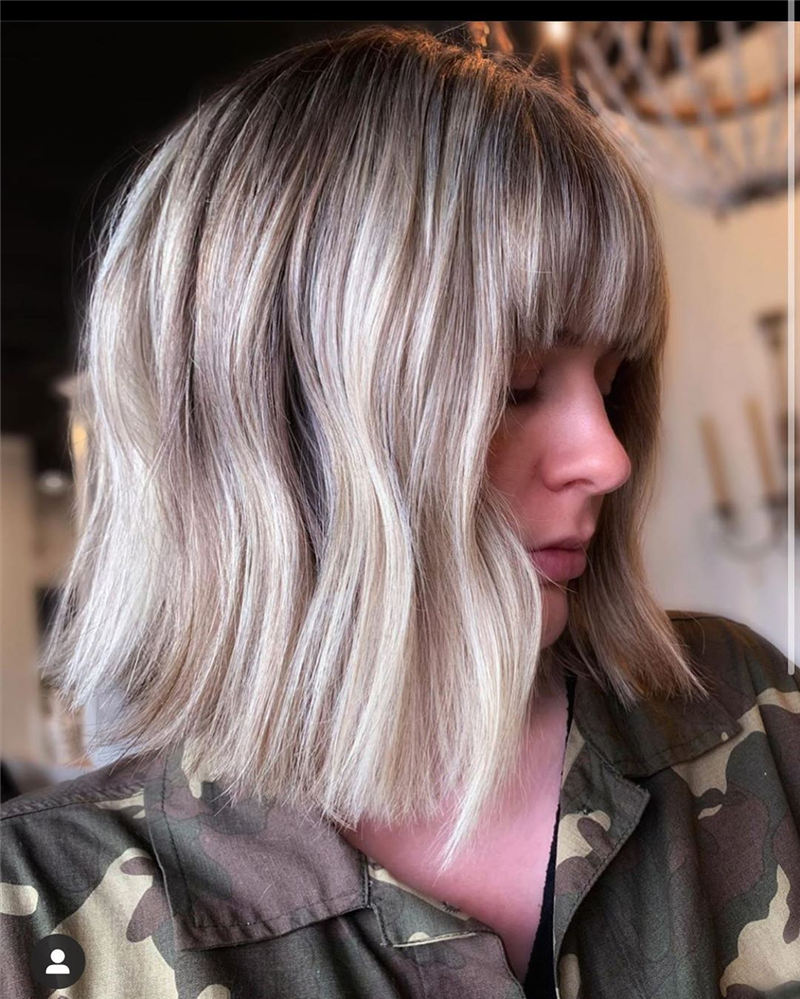 Best Short Bob with Bangs for An Amazing Look 04