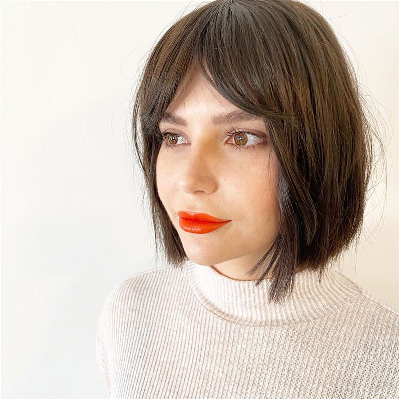 Best Short Bob with Bangs for An Amazing Look 08