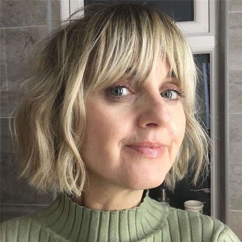 Best Short Bob with Bangs for An Amazing Look 38