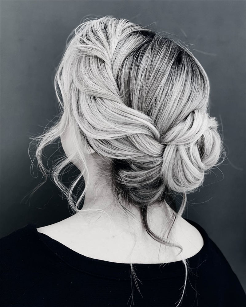 Modern Updos You'll Love to Wear in 2020-18