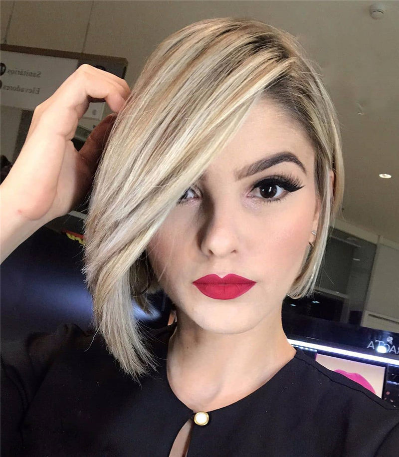 Perfect Short Bob Haircuts Ideas to Build Your Own-14