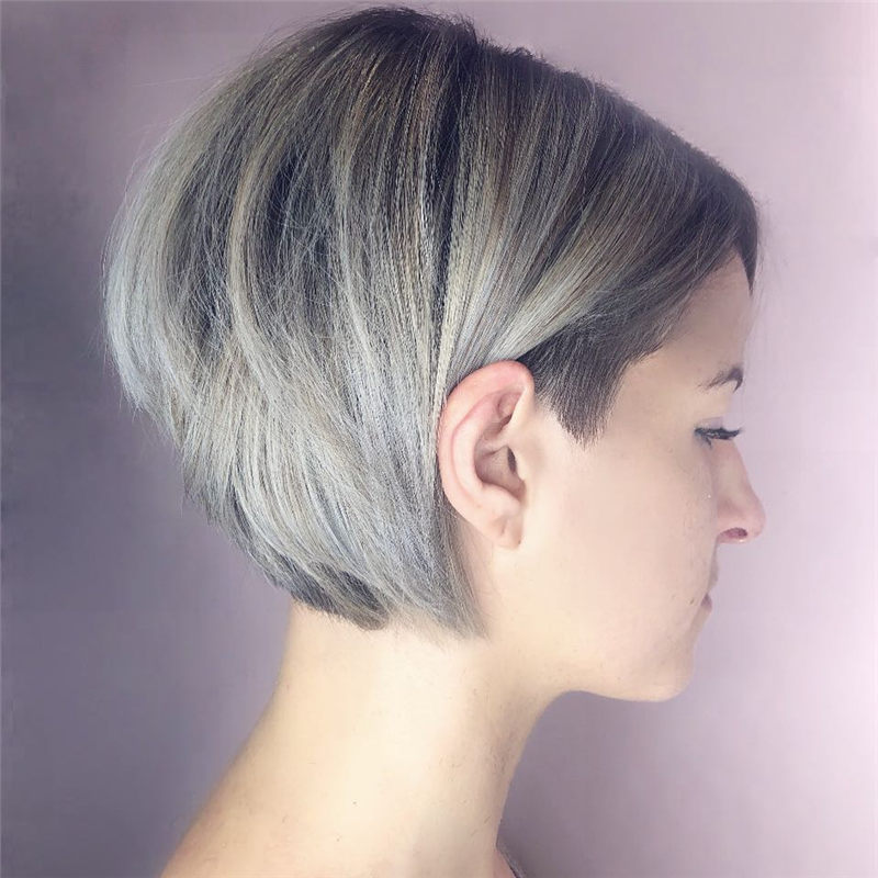 Really Popular Short Grey Haircuts to Look Stylish-18