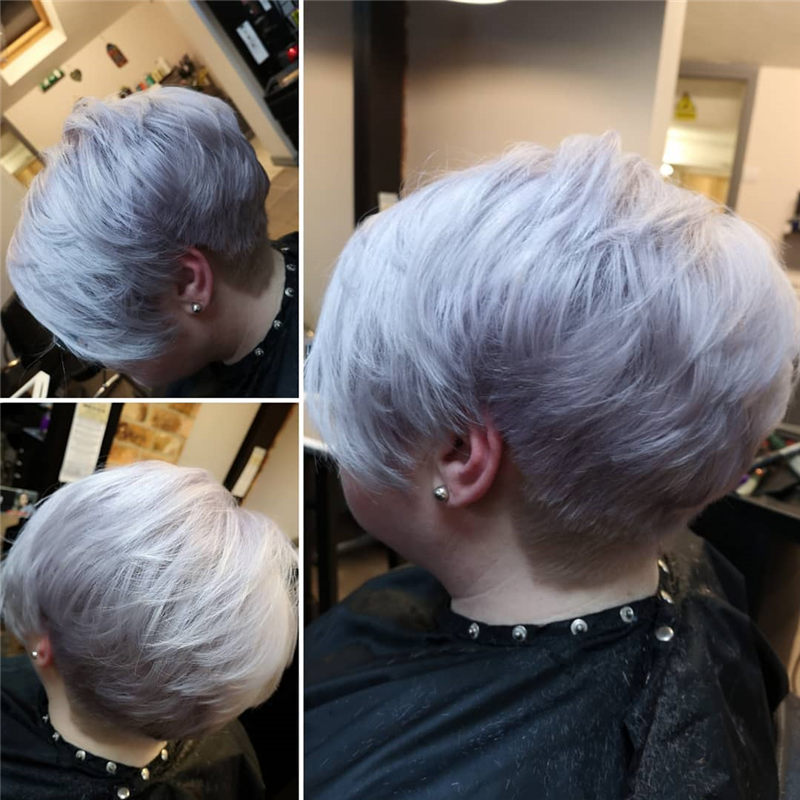 Really Popular Short Grey Haircuts to Look Stylish-33