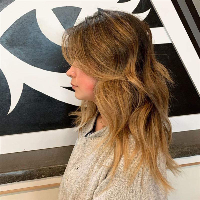 Great Hairstyles With Bardot Bangs You Will Love 36