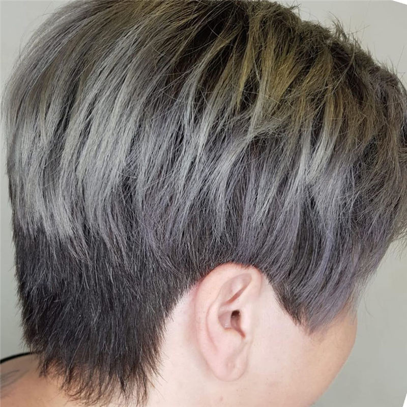 Pretty Short Grey Haircuts You Should Try Now 07