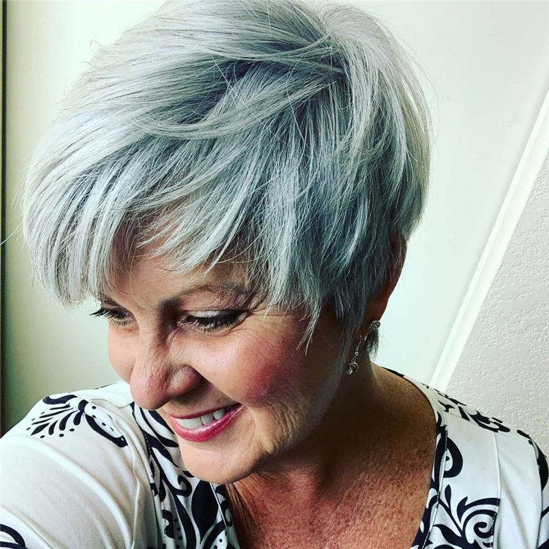 Pretty Short Grey Haircuts You Should Try Now 14