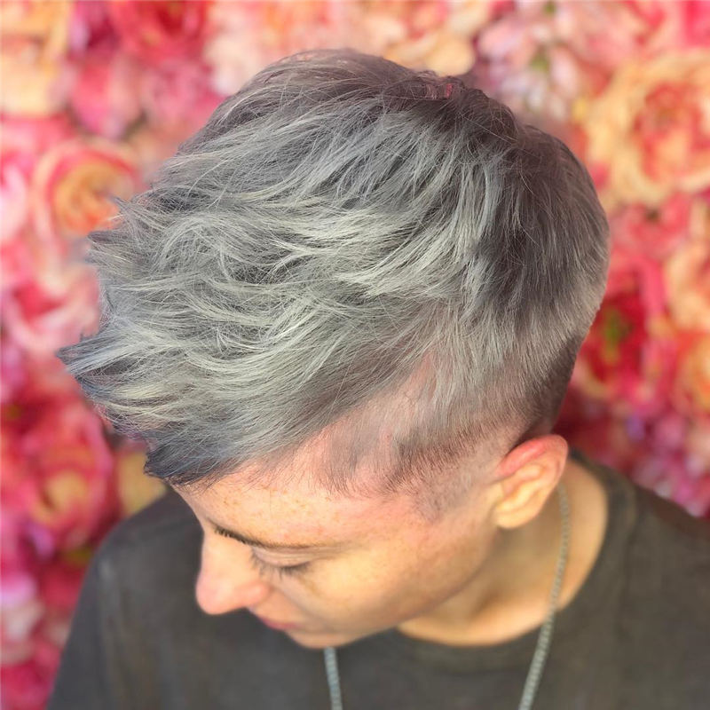 Pretty Short Grey Haircuts You Should Try Now 30