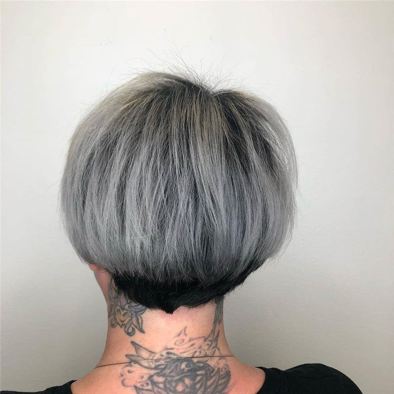 Pretty Short Grey Haircuts You Should Try Now 38