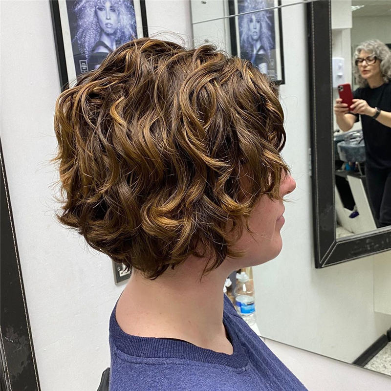 Most Stylish Short Curly Hairstyles for Women 06