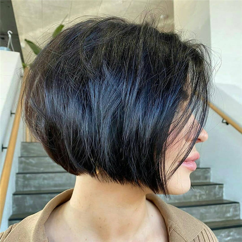 Best Inverted Bob Haircuts for Fine Hair 39