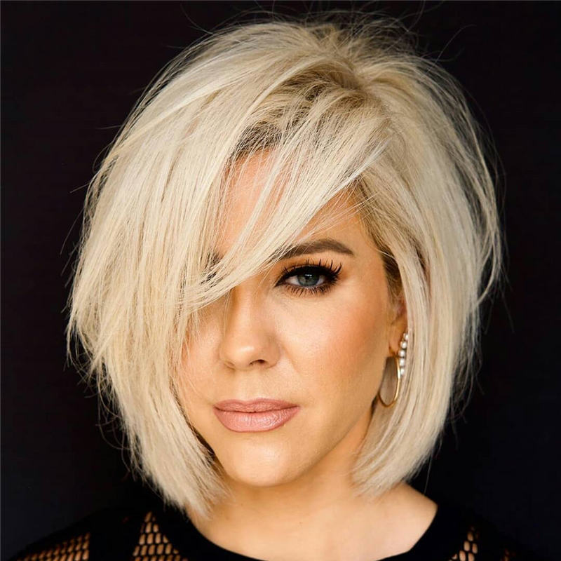 Best Inverted Bob Haircuts for Fine Hair 46