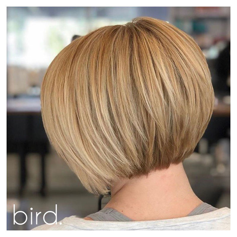 Best Stacked Hairstyles for Short Hair 2020 01