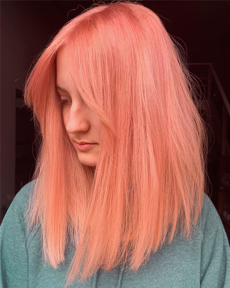 Peach Hair Color Ideas that Wow Your Style 2020 01