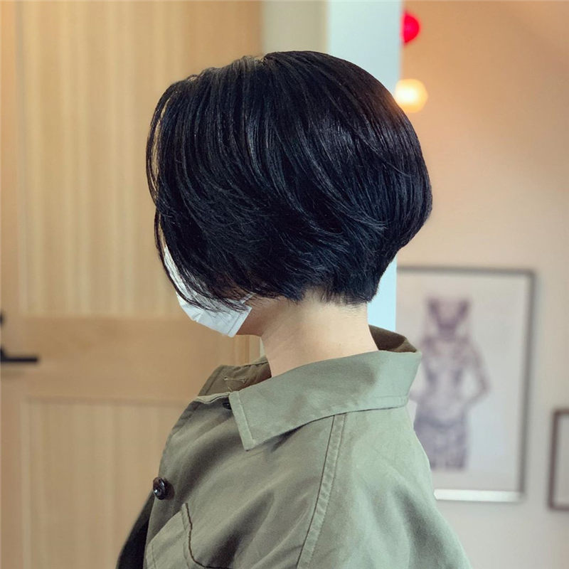 Trendy Asian Hairstyles with Bangs for 2020 40