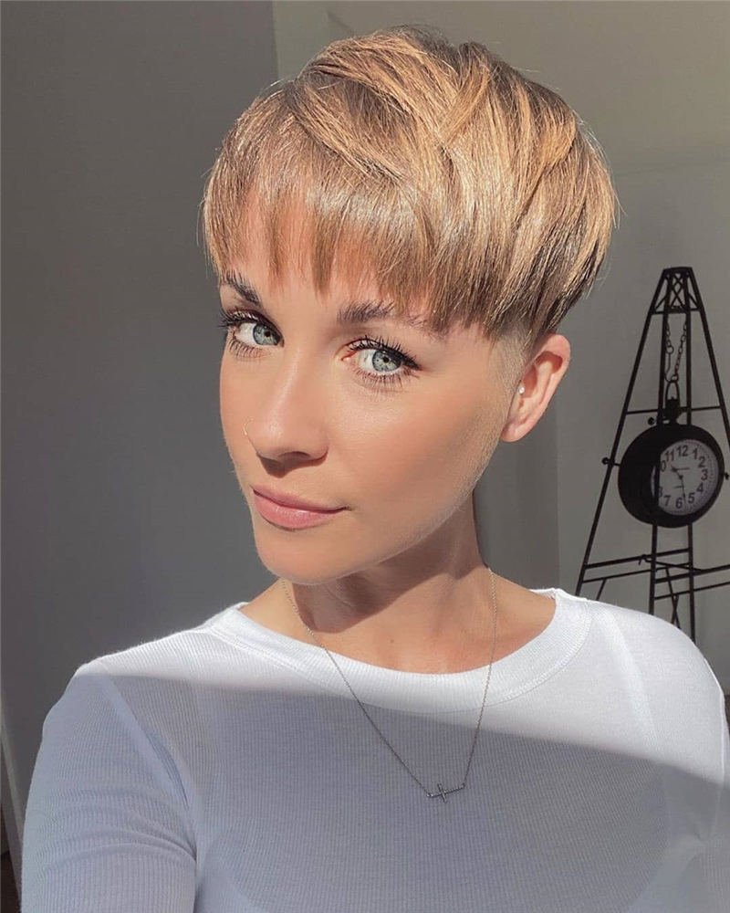Amazing Easy Pixie Haircuts for Round Faces 44