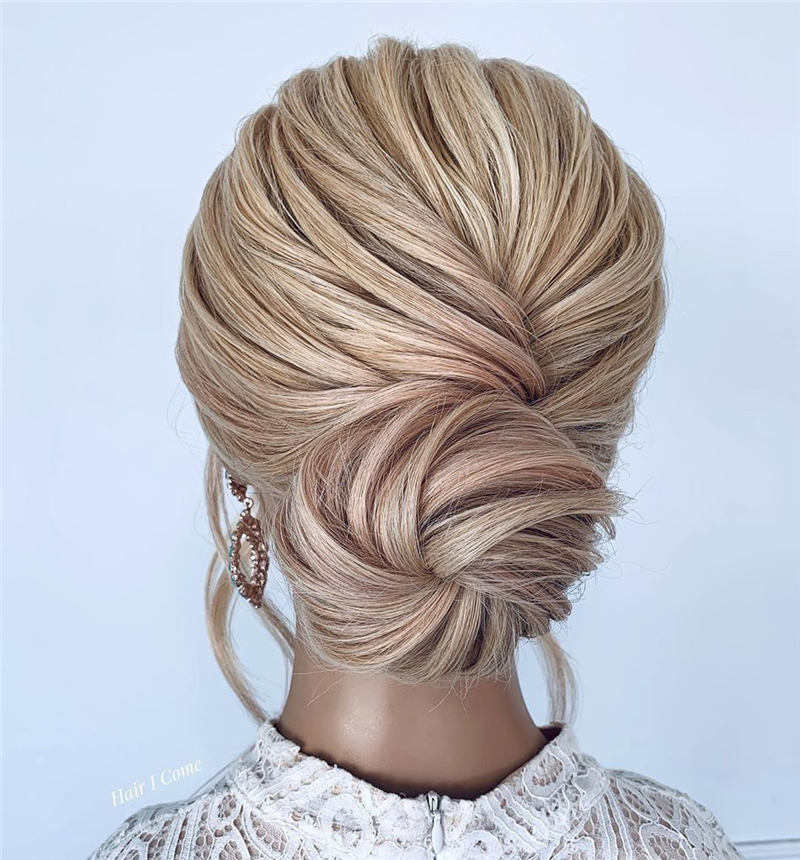 Beautiful Updos for Medium Length Hair 2020 11