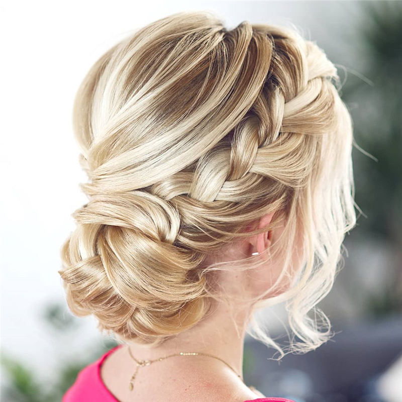 Beautiful Updos for Medium Length Hair 2020 25