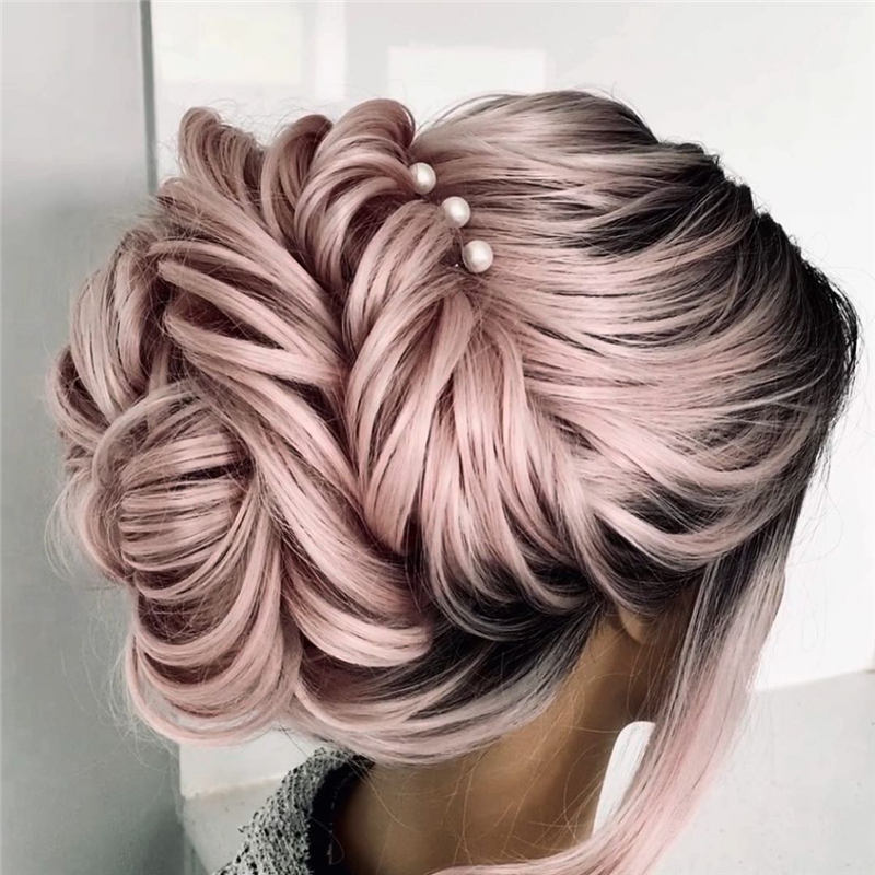 Beautiful Updos for Medium Length Hair 2020 26