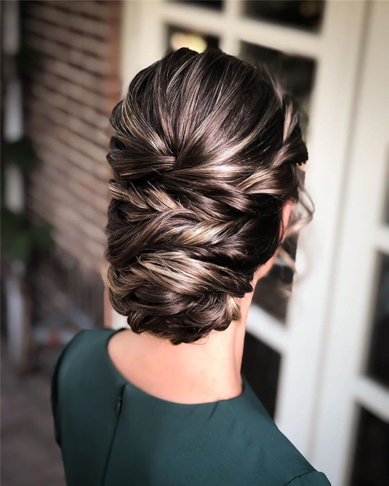 Beautiful Updos for Medium Length Hair 2020 28