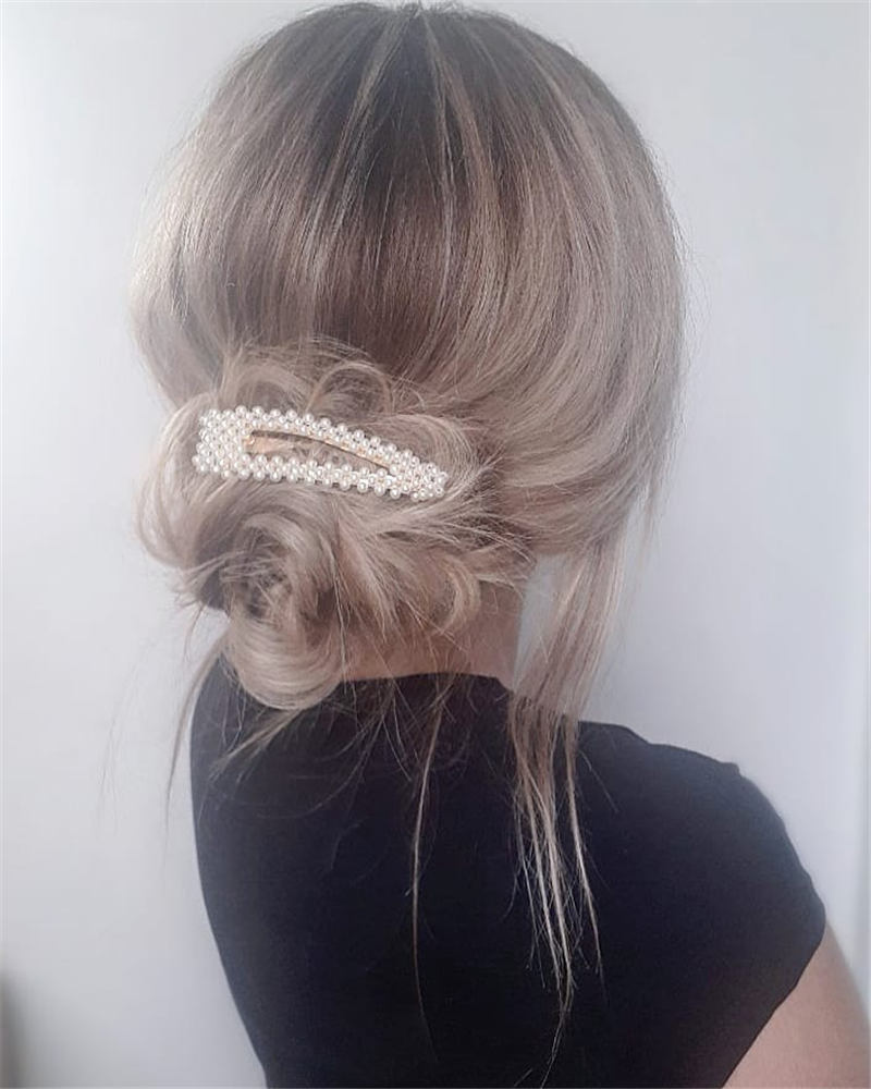 Beautiful Updos for Medium Length Hair 2020 31