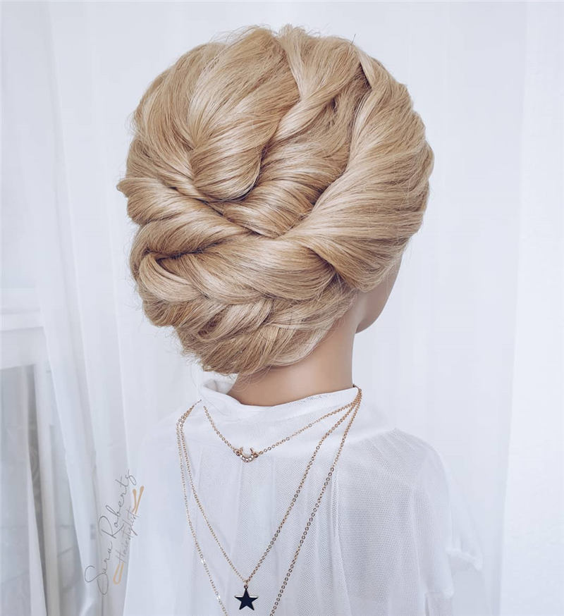 Beautiful Updos for Medium Length Hair 2020 33