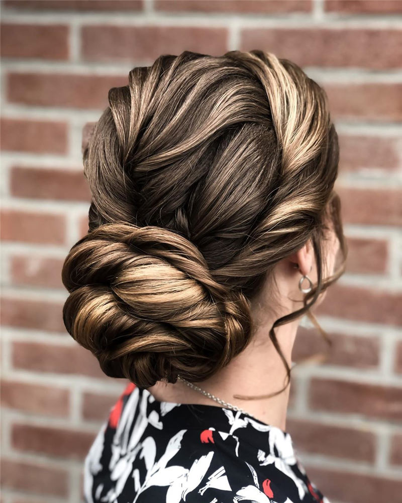 Beautiful Updos for Medium Length Hair 2020 39