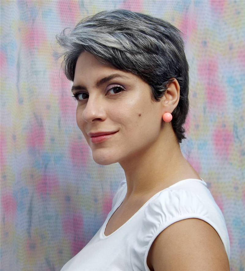 Cool Grey Hairstyles for Short Hair 2020 01