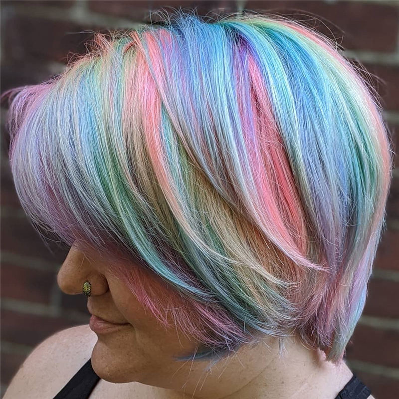 Coolest Trendy Hair Color for Short Hair 14