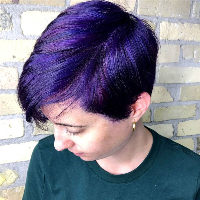 Coolest Trendy Hair Color for Short Hair 31