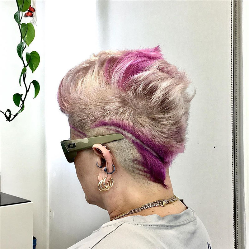 Coolest Trendy Hair Color for Short Hair 46
