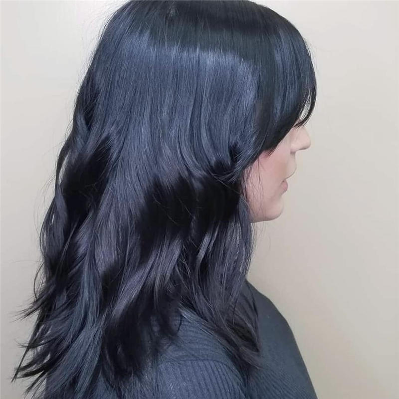 Cute Layered Hairstyles with Bangs for 2021 26