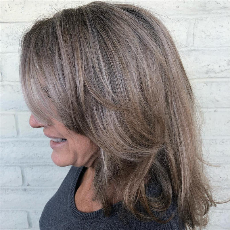 Cute Layered Hairstyles with Bangs for 2021 41