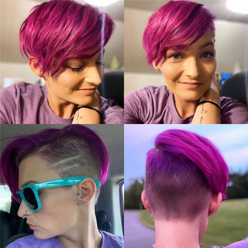 Trendy Colored Pixie Haircut for Short Hair 07