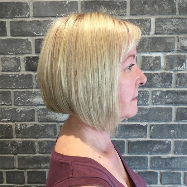 Short Blonde Angled Bob Hairstyles