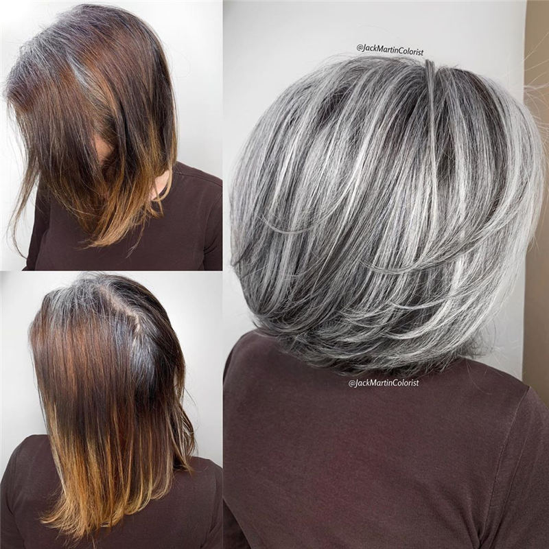 Stylish Grey Hair Ideas That Dont Make You Look Older 07