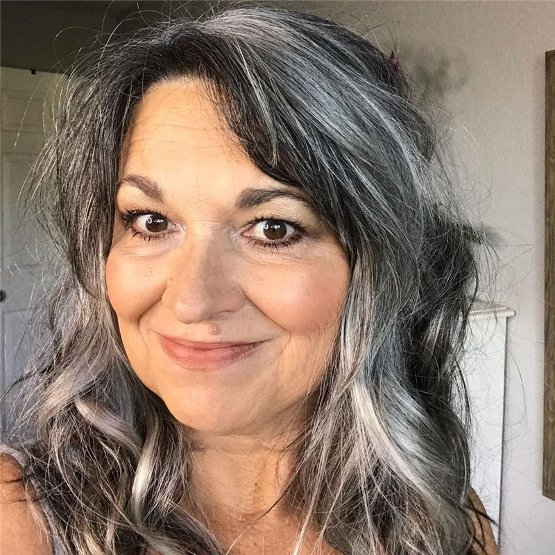 Stylish Grey Hair Ideas That Dont Make You Look Older 20